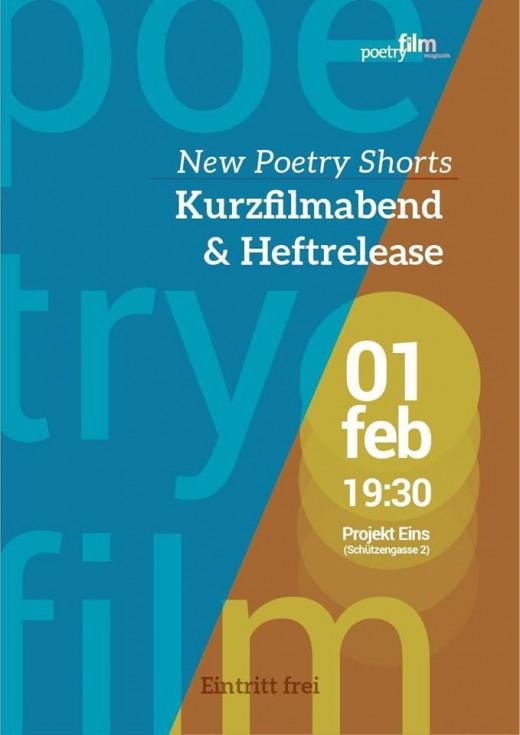 Teaser New Poetry Shorts – Kurzfilmabend & Heftrelease