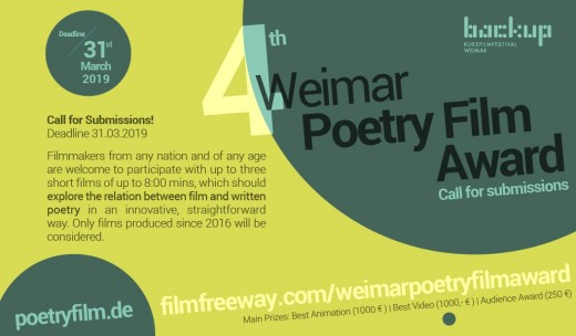 Teaser Weimarer Poetryfilmpreis 2019
